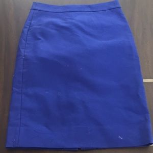 J. Crew No.2 pencil skirt in royal blue.